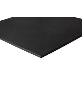 Rubber Flooring Plain Black (1-49)