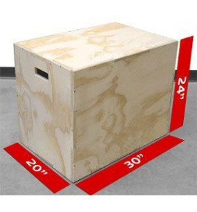 3-In-1 Plyometric Box (Wooden)